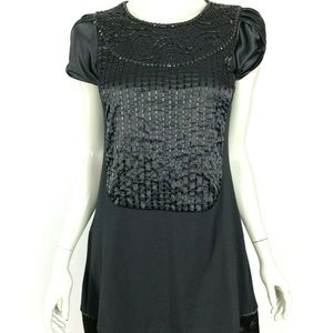 Max Mara Weekend Black Embellished Shift Dress